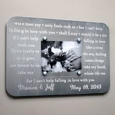 1st year anniversary gift ideas for metal wedding song frame engraved custom picture