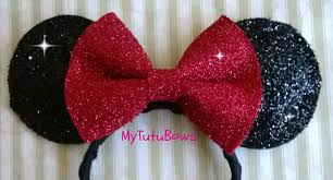 red minnie mouse halloween costume toddler minnie mouse ears headband black ears with big red bow glitter
