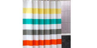 Colorful Fabric Shower Curtains Uphome Colorful Stripe Fabric Shower Curtain Open Box Reviews