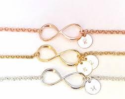 Infinity Bracelet With Initials Infinity Bracelet Gold Infinity Jewelry Eternity Bracelet