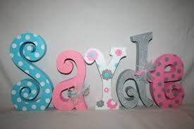 Gray And Pink Nursery Decor by Baby Name Letters Nursery Decor Nursery Letters 5 Letter