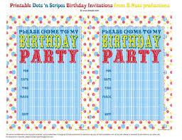 birthday invitation templates free printable birthday invites