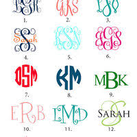 create monogram initials personalized license plate blue teal and gray chevron