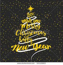 we wish you merry happy stock vector 534714364
