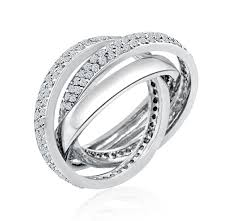 Cartier Wedding Rings by Cartier Inspired Rolling Wedding Ring Eternity Pave