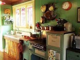 decoration small kitchen designs in yellow and green colors