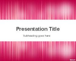 pink basic powerpoint template