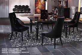 Lacquer Dining Room Sets Modern High Gloss Dining Table Set Furniture In Black Features