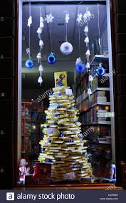 christmas tree made of books stock photo royalty free image