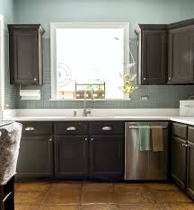 Kitchen With Painted Cabinets How To Paint Builder Grade Cabinets