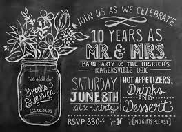 10 year anniversary ideas 10 year wedding anniversary party invitations amazing party ideas