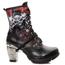ladies long biker boots new rock undead bandit boots tr 001 139 99 angel clothing