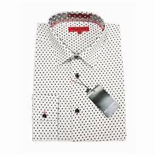 black polka dot white dress shirt vintage men suits