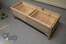 Storage Bench With Drawers Pottery Barn Knockoff Bench Shanty 2 Chic