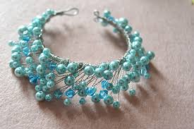 make bracelet beading wire images Easy tutorial on pearl beads and wire wrapped bracelet making jpg