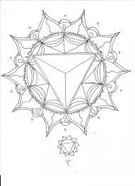 solar plexus chakra elemental mandala coloring page