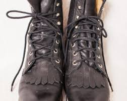 womens justin boots size 9 lace up roper boots etsy