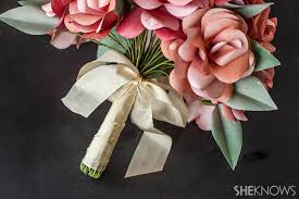 diy bridal bouquet diy paper bridal bouquet
