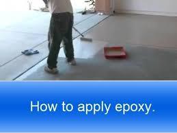 Rustoleum Epoxy Basement Floor Paint by How To Apply Rust Oleum Garage Floor Epoxy Youtube