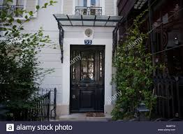 facade apartment building paris france front door entrance