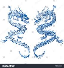 chinese dragon tattoo hand draw vector stock vector 596028812