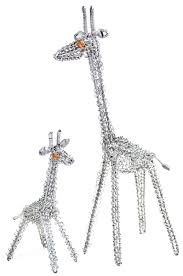 recycled wire curlicue giraffes sale