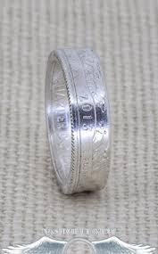 dakota wedding band 1992 1998 90 silver washington us quarter dollar sided 3d