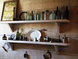 kitchen wall shelves reclaimed wood kitchen shelves pinterest