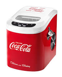 amazon com nostalgia ice100coke coca cola 26 pound automatic ice