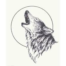 wolf howling pesquisa inkt wolf