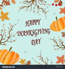 happy thanksgiving day congratulation card autumn stock vector