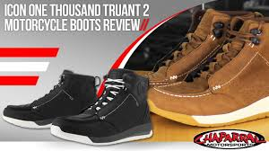 motorcycle sneakers icon one thousand truant 2 motorcycle boots review youtube