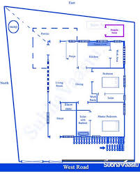Bathroom Vastu For West Facing House West Facing Vastu Home Plan Subhavaastu Com