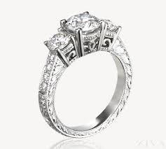 engagement ring engravings 3 diamond engagement ring