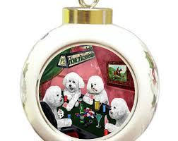 bichon ornament etsy