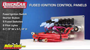 motor rated switch with pilot light quickcar fused ignition panels youtube