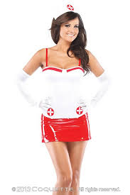 White Christmas Dress Ideas by 2 Pc White Red Nurse Bustier Costume Amiclubwear Costume