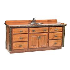 lodge furniture hickory rustic alder bathroom vanity with wood