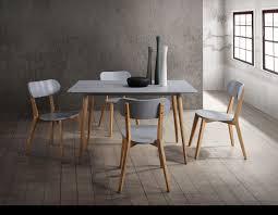 orpheus mid century modern pine u0026 grey finish 5 pcs dining table set