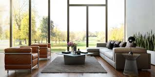 Curtains For Large Windows Inspiration Living Room Cool Large Window Living Room Inspiration With