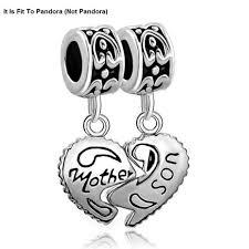sterling silver beads pandora bracelet images 925 sterling silver heart mother son charm beads pandora bracelet jpg