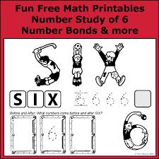 number bonds to 6 free math worksheets