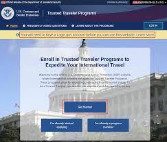 create login gov account to log into global entry tsa precheck