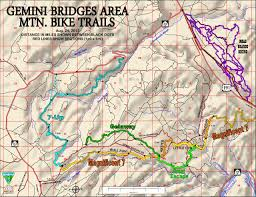 Ups Route Map by Moab Mountain Biking Trails Moab Mountain Bike Trail Information