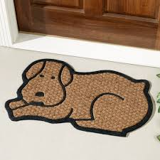Outdoor Coir Doormats Dog Shaped Coir Doormat