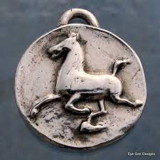 flying horse silver charm