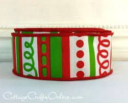 christmas wired ribbon christmas wired ribbon 1 1 2 lime green and white stripes