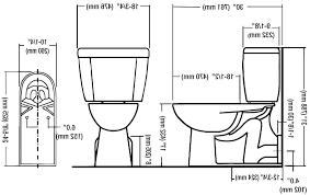 Eljer Urinal Floor Wall Mount Discharge Toilets Toilet Drain Rough In
