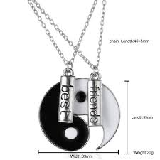 best friends puzzle necklace images Unique gifts vintage handstamped best friends yin yang puzzle jpg
