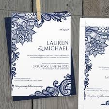 Navy Blue Wedding Invitations Navy Blue Wedding Invitation Templates Matik For